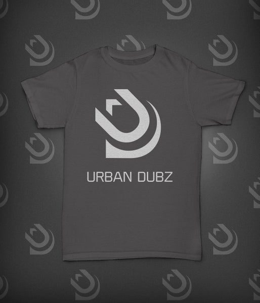 Image of Urban Dubz Logo & Name T-Shirt - Charcoal Grey