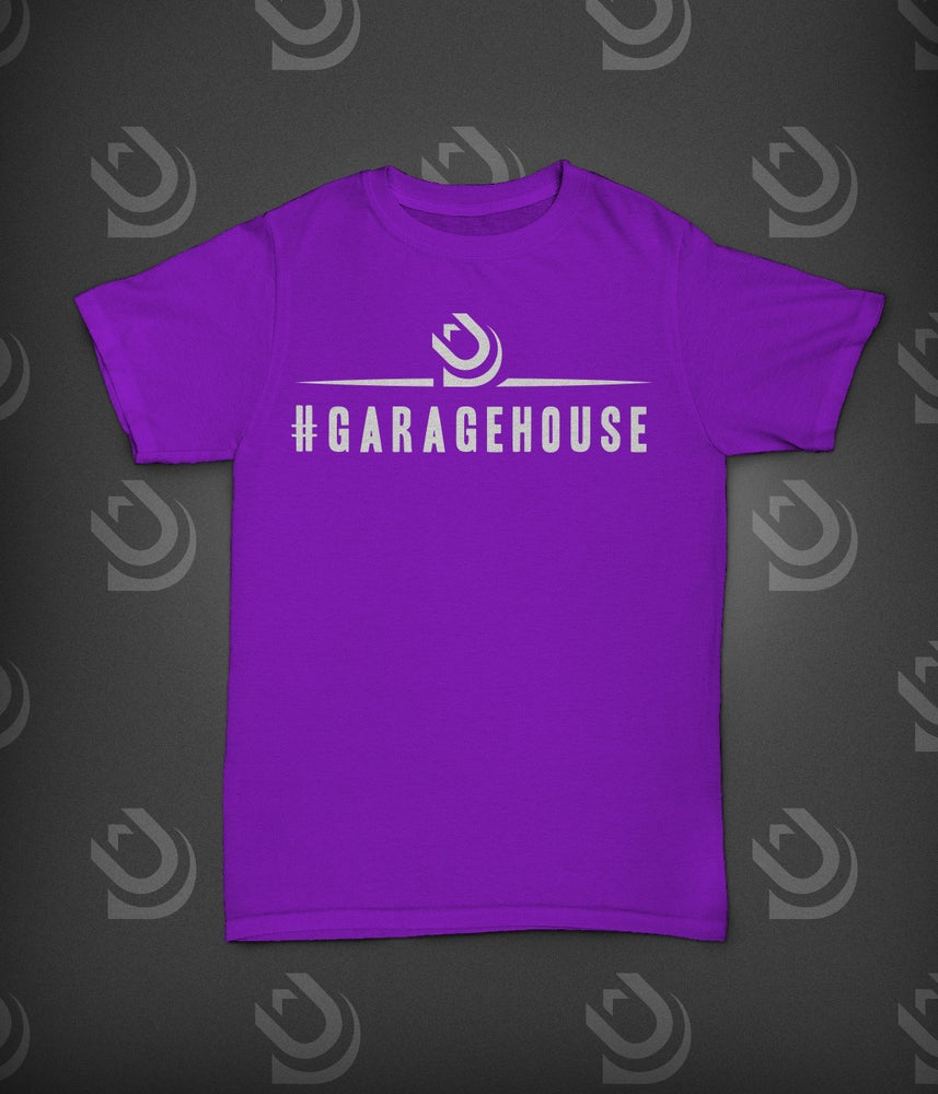 Image of Urban Dubz 'GarageHouse' Slogan - White on Purple