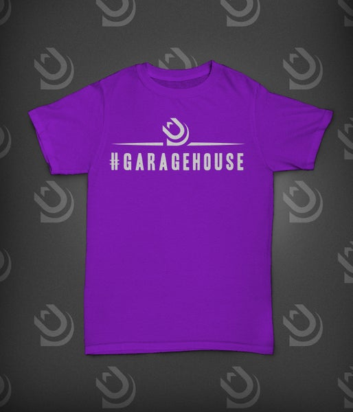 Image of Urban Dubz 'GarageHouse' Slogan - White on Purple