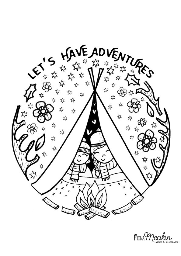 Image of Let's Have Adventures - Print