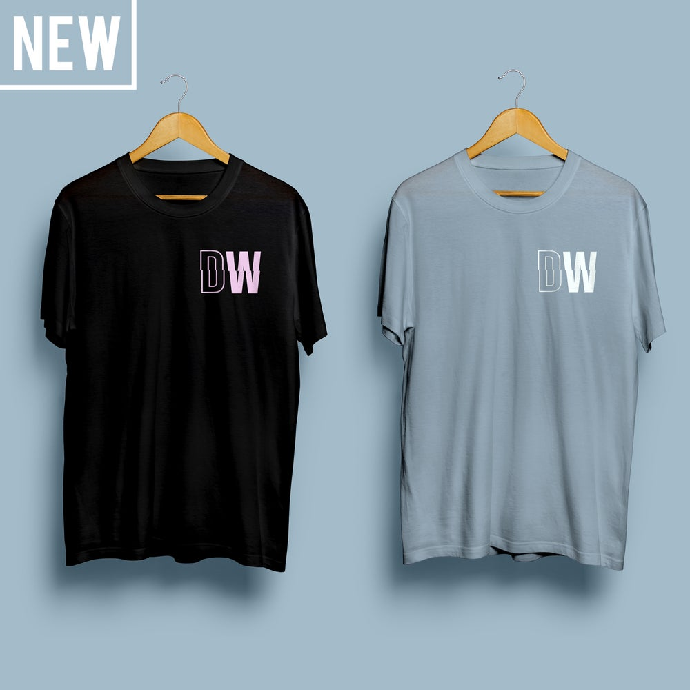 Image of LIMITED EDITION 'DW LOGO' T-SHIRT (Black/Blue)