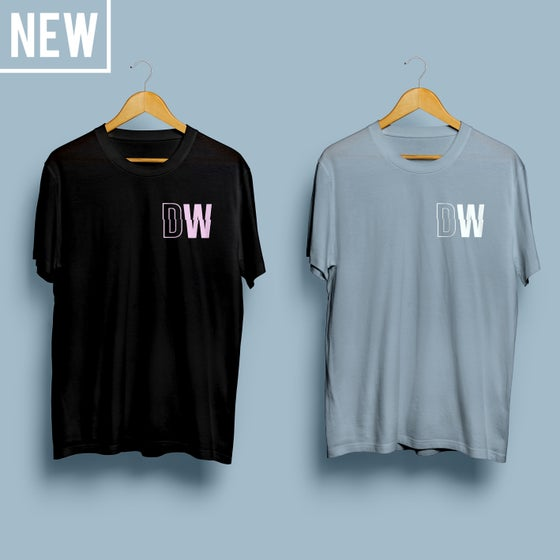 Image of 'DW LOGO' T-SHIRT (Black/Blue)