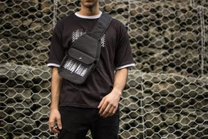 Image of Gradient Stacked Logo Sling Bag