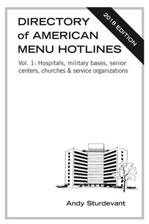 Image of Directory of American Menu Hotlines, Vol. 1