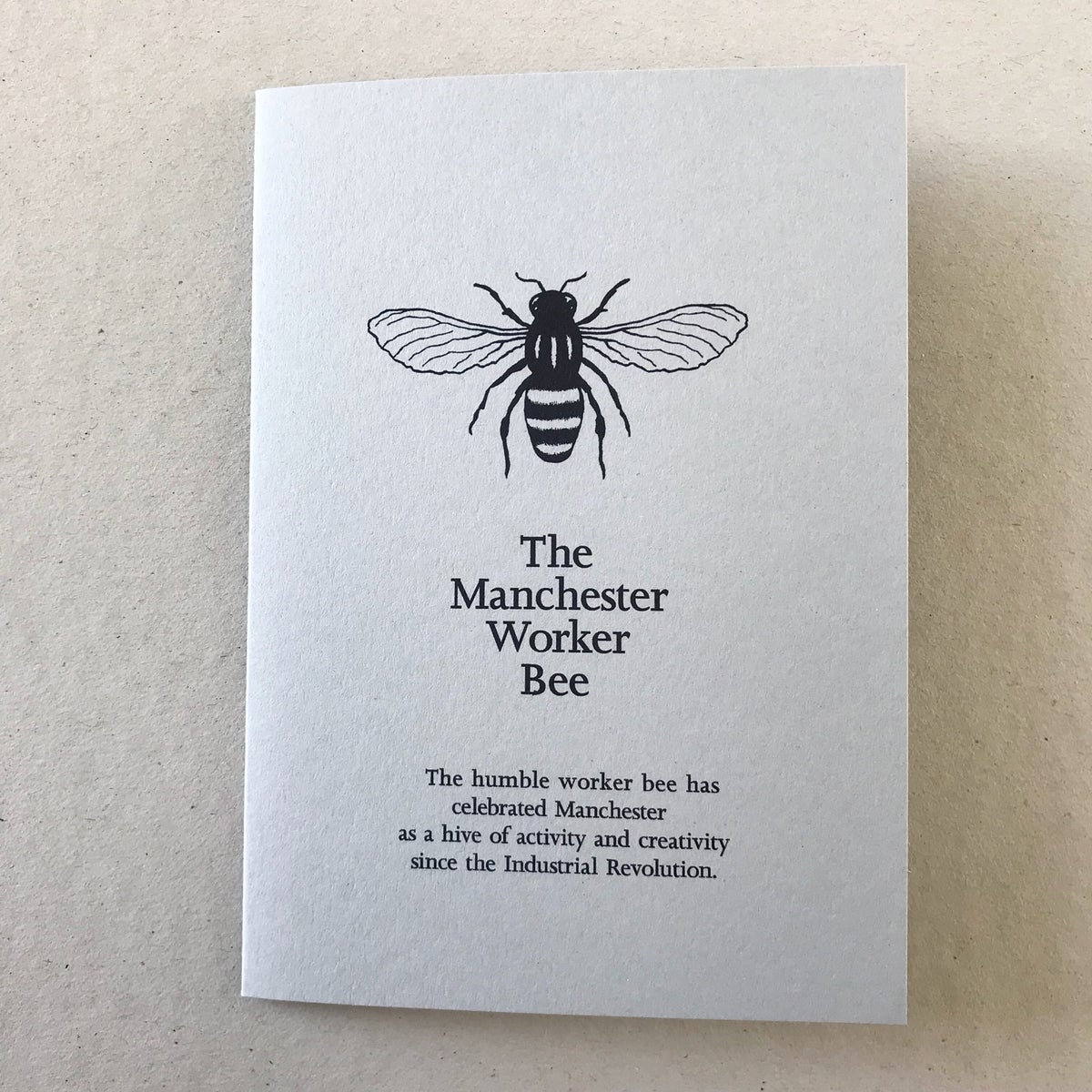 Image of Manchester Worker Bee card in Yellow or Grey