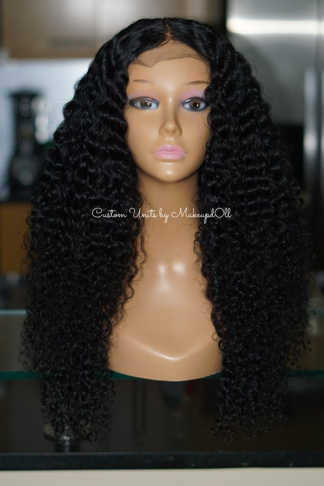 "Image of Brazilian Curly 24"" Custom Closure Wig!"