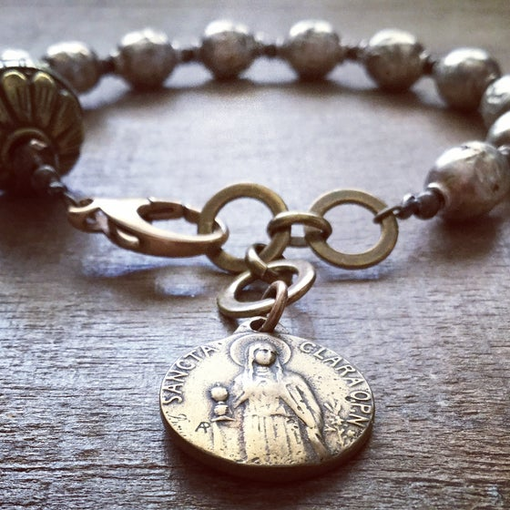 Image of ST. CLARE OF ASSISI CHAPLET BRACELET