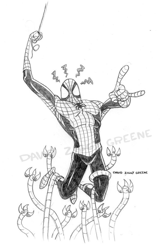 Image of Spiderman - original pencil art