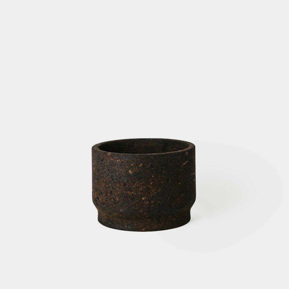 "Image of Charcoal 9.5"" Cork Planter"