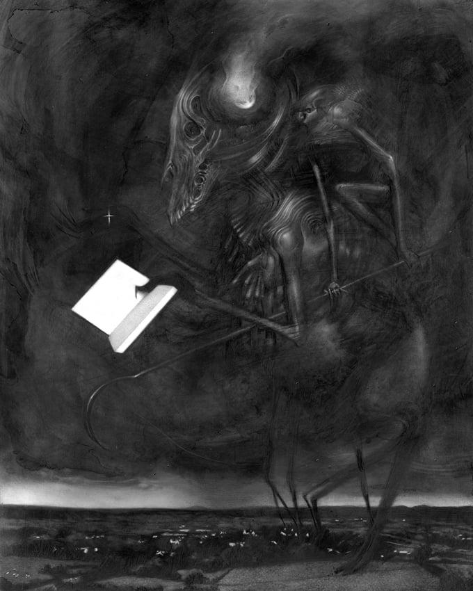 Image of Allen WIlliams original art 'War Study'