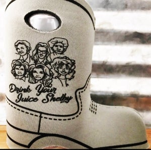 Image of Steel Fagnolia Boot Coozie