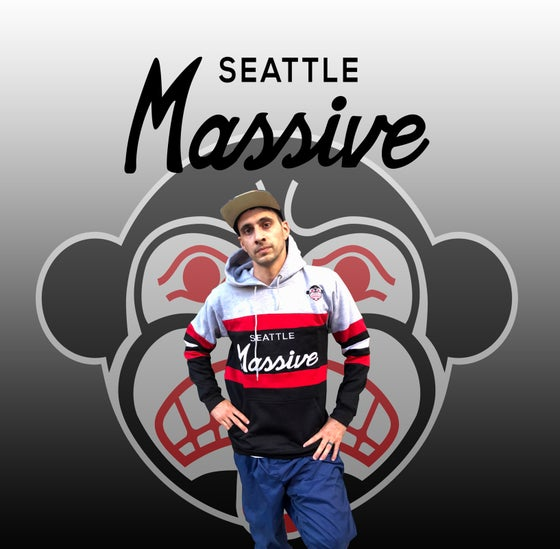 "Image of ""Seattle Massive"" Script Hoodie"