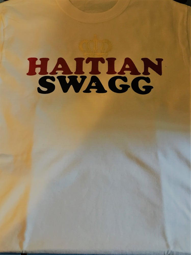 Image of red and blue white Haitian Swagg