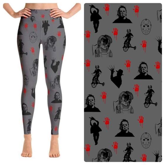 Image of Horror Killers custom leggings PREORDER due by 8/17
