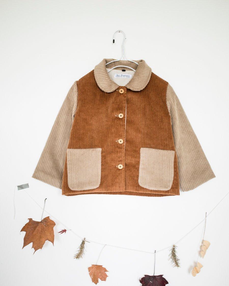 Image of bicolore velvet vest