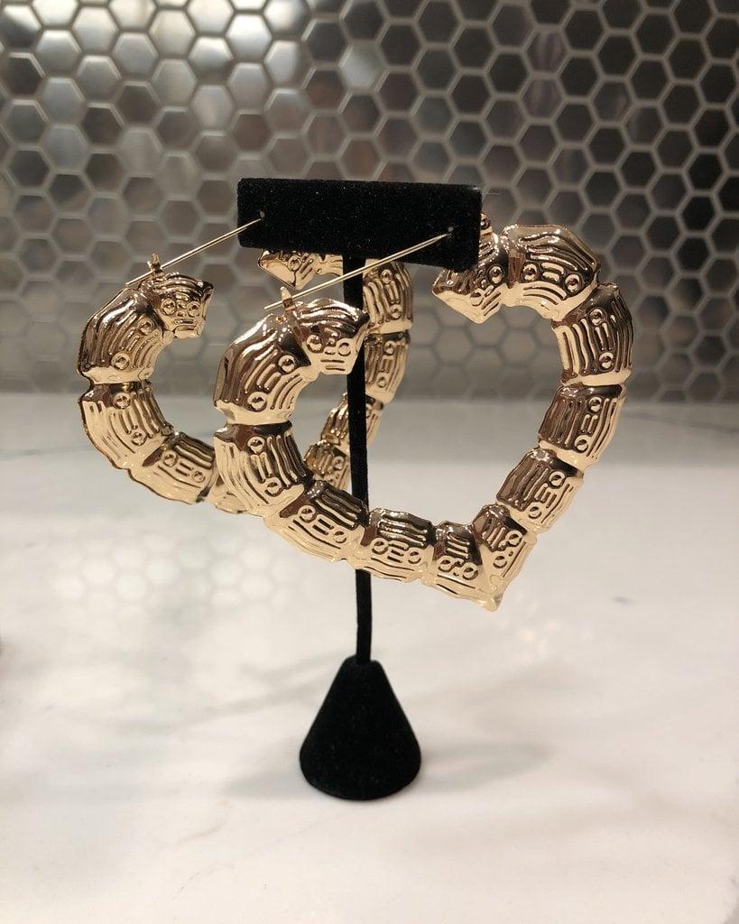 Image of Heart Hoop Earrings