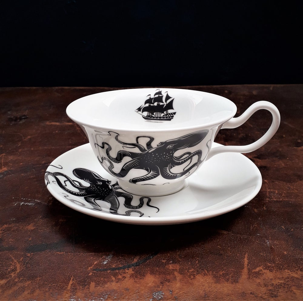 Image of Kraken teacup & saucer