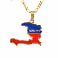 Image of Haiti red and blue pendant