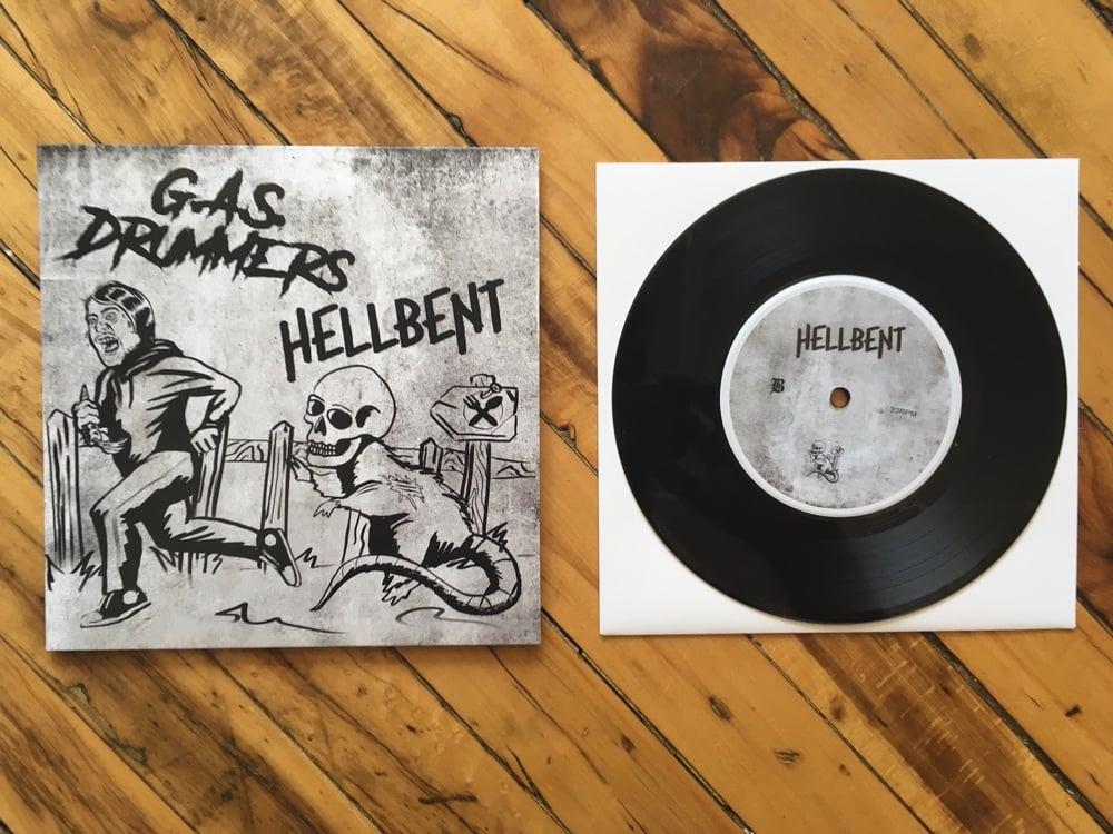 "Image of G.A.S. Drummers & Hellbent 7"" Split"