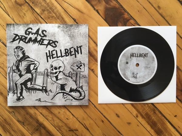 "Image of G.A.S. Drummers & Hellbent 7"" Split"