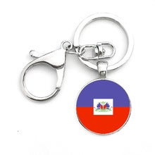 Image of Haiti map keychain