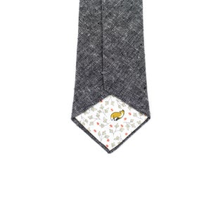 Image of Charcoal Chambray Necktie