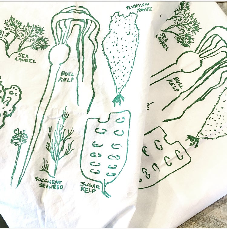 Image of Seaweed tea towel 2-pack