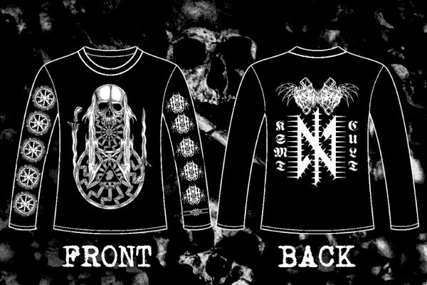 "Image of NECHBEYTH "" KSMT Cult"" double sided long & short sleeve t-shirt."