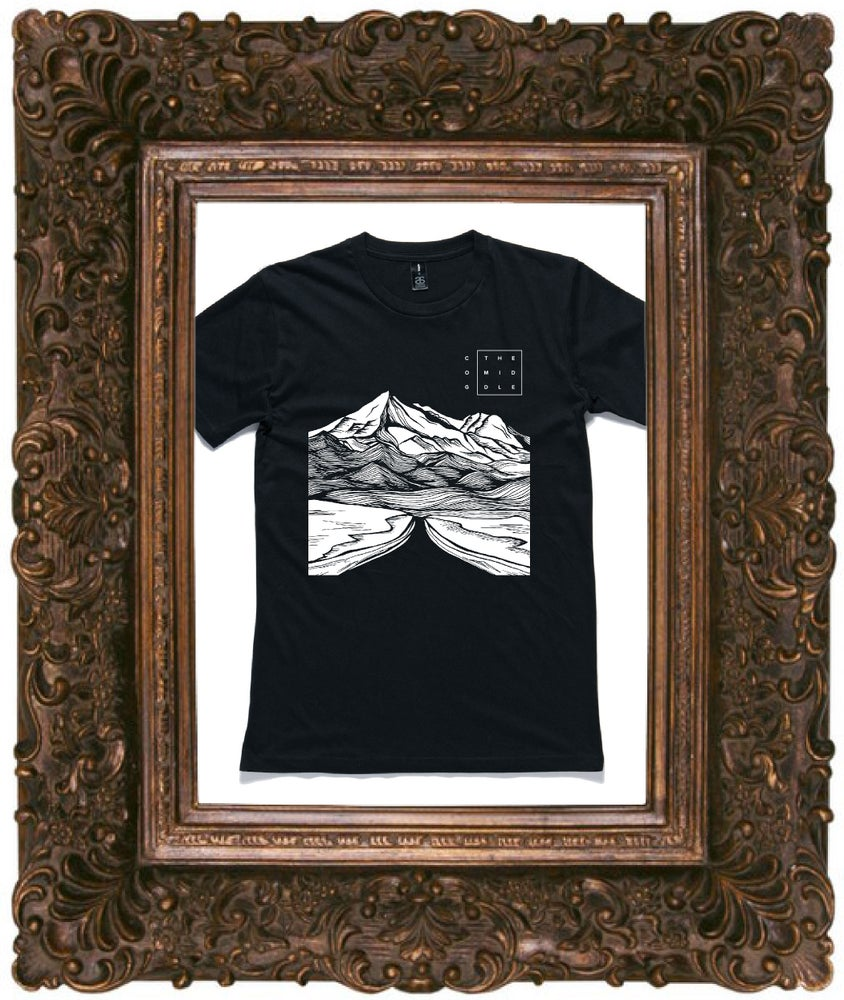 Image of The Middle Tee - Black Tee w/ White Print