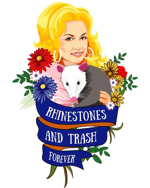 Image of Dolly's Rhinestones and Trash Forever Shirt