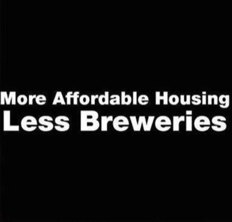 Image of More  Affordable Housing Less Breweries Shirt