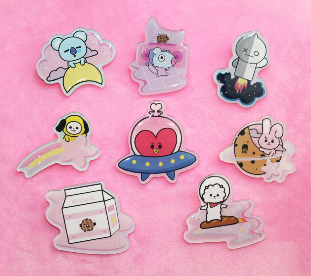 Image of BT21 acrylic pins
