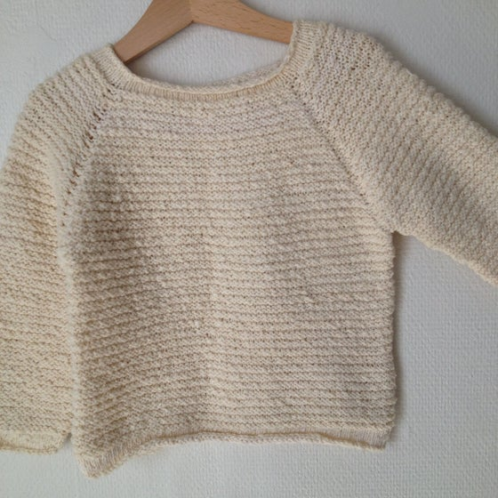 Image of Sweater med rullekant