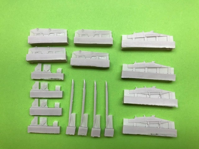 Image of Unarmed Inner and Outer Wing Pylons for Airfix Phantom