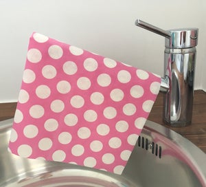 Image of Ultra Absorbent Cloths (Pink Polka Dot) - 3 x Pack of 4 (Total 12 Cloths)