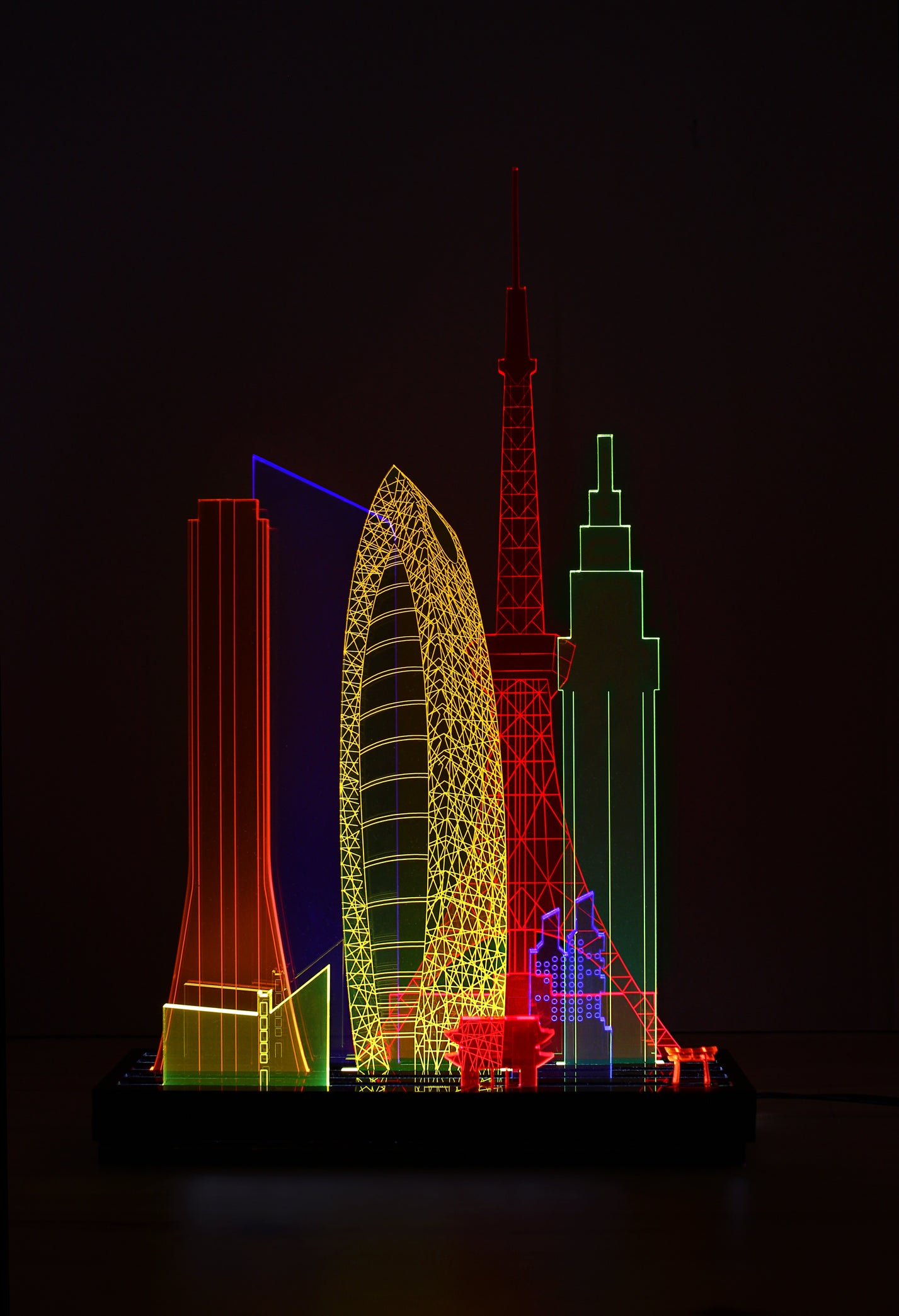 Image of XL Modular London/Paris/NY/Tokyo light sculpture