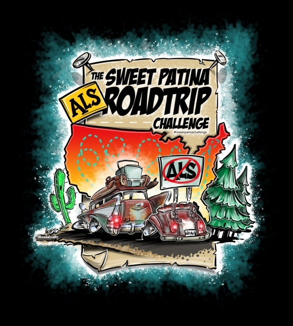 Image of The Sweet Patina ALS Road Trip Challenge  T-shirt