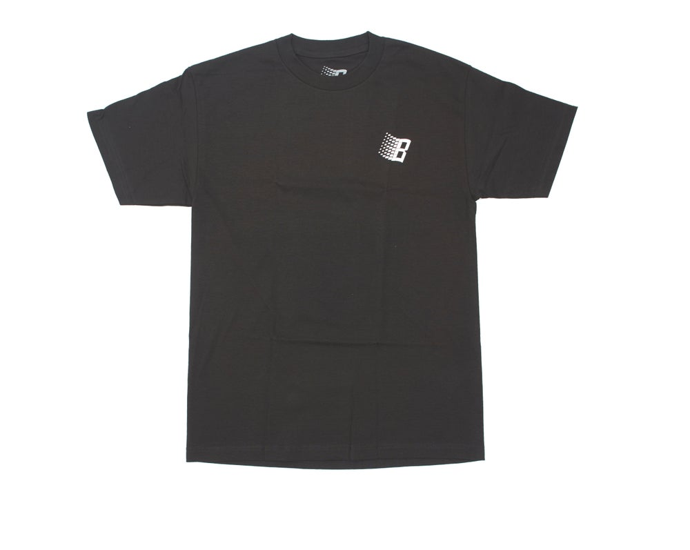 Image of B LOGO DIAMOND PLATE TEE BLACK