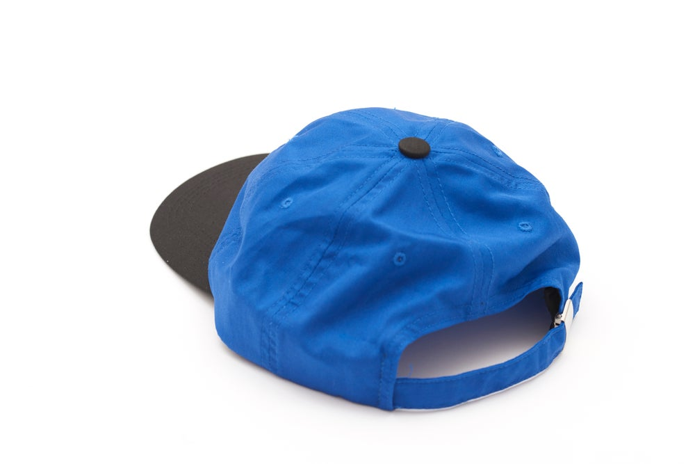 Image of 2 TONE SPORTS HAT BLUE/BLACK