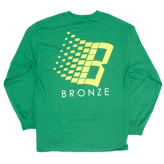 Image of B LOGO LONGSLEEVE KELLY GREEN/YELLOW