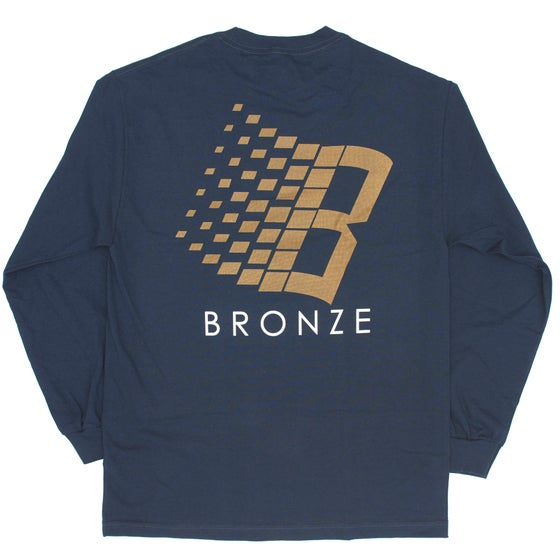 Image of B LOGO NAVY/BRONZE/ORANGE