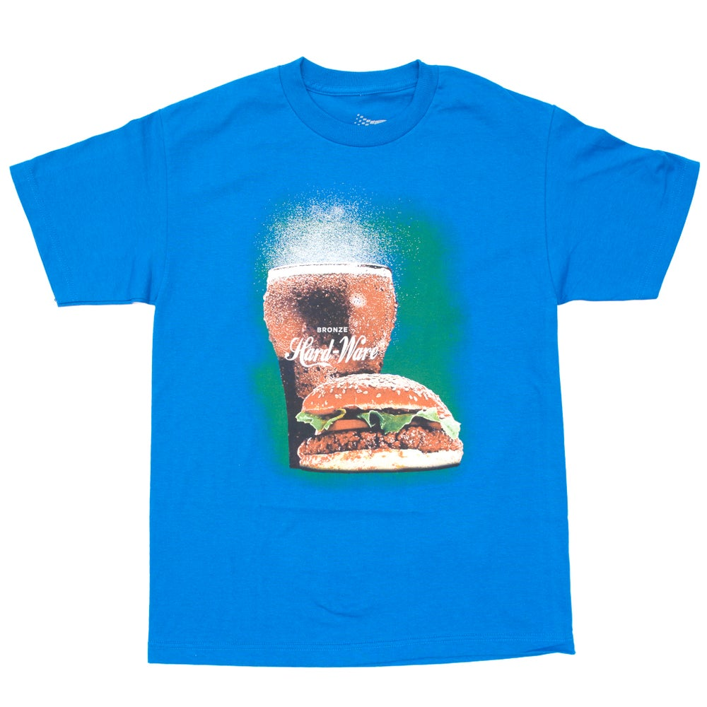 Image of BURGER TEE BLUE