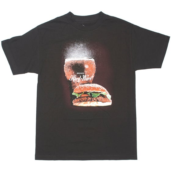 Image of BURGER TEE BLACK