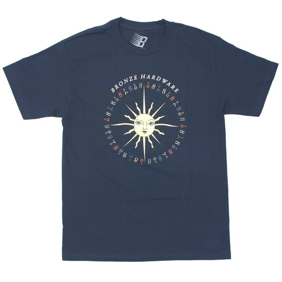 Image of PEACE LOVE AND HARDWARE TEE NAVY