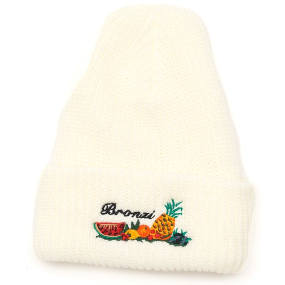 Image of BRONZI BEANIE WHITE
