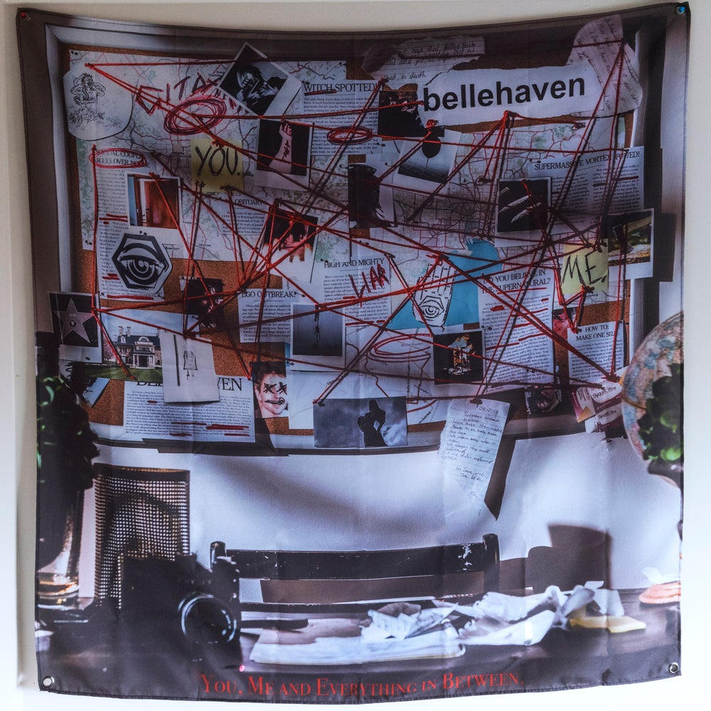 Image of Belle Haven 'You, Me and Everything in Between.' Wall Flag