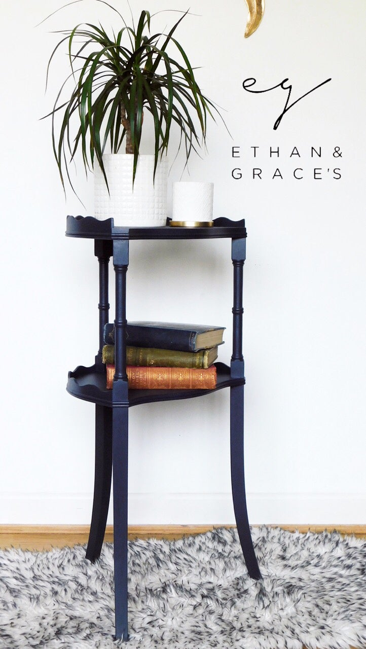 Image of A Beven funnell dark blue stand