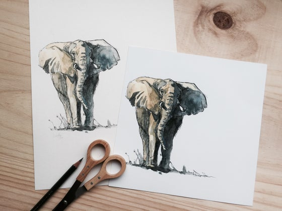 "Image of Lámina ""Elefante"" - Print ""Elefante"""