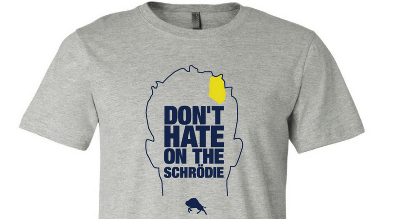 "Image of ""Don't Hate on the Schrodie"" Tee (Grey)"