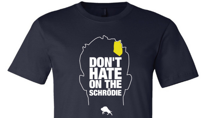 """Image of """"Don't Hate on the Schrodie"""" Tee (Navy)"""